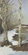 Ilya Ostroukhov Early Spring oil painting reproduction